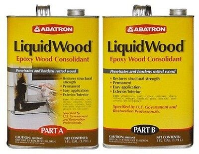 Abatron Liquidwood Epoxy Wood Consolidant 2 Gallons Kit Part A Part B