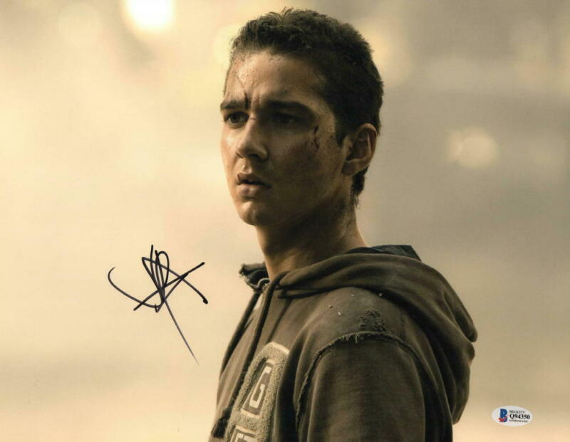 SHIA LABEOUF SIGNED 11X14 PHOTO TRANSFORMERS AUTHENTIC AUTOGRAPH BECKETT COA B