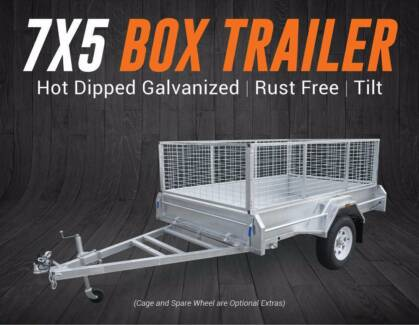 Interest Free* 7X5 Fully Welded Box Trailer Buy Now Pay Later