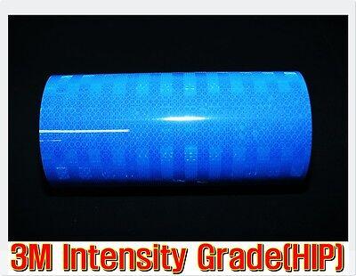 L:10ft/3M/ Blue REFLECTIVE Tape/Intensity Grade/Vinyl/Adhesi