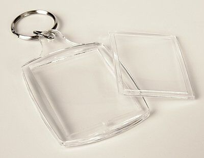 100 x Acryl Schlüsselanhänger für Ihr Foto Bild Werbung Werbeanhänger! FREIHAUS