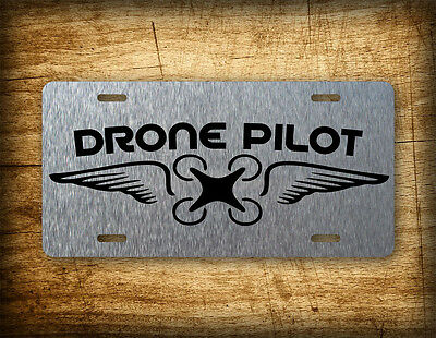 Drone Pilot Wings License Plate Quad Copter Auto Tag RC Inspire DJI Phantom Heli