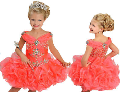 Cupcake Infant/Toddle Pageant Girls Mini Party Birthday Ball Gowns Tutu Dresses](Cupcake Communion Dress)