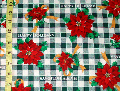 Fabric/christmas Faye Burgos Marcus Brothers Happy Holidays Poinsettia By The Yd