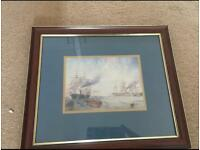 Framed Picture of Ships