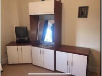 DRESSER AND TWO CUPBOARDS
