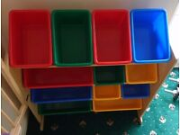 Colourful toy rack/ storage