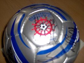 Signed Hartlepool United Football