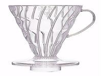 NEW - Hario V60 Clear Coffee Dripper with V60 Paper Filters & Measuring Scoop