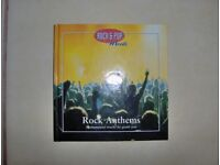 Rock & Pop Moods - Rock Anthems, hardcover Book & CD -Good condition monumental tracks by giant acts