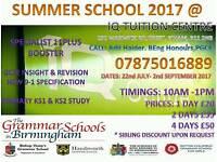 SUMMER SCHOOL 2017/TUITION/11PLUS/SATS/GCSE/ALEVELS