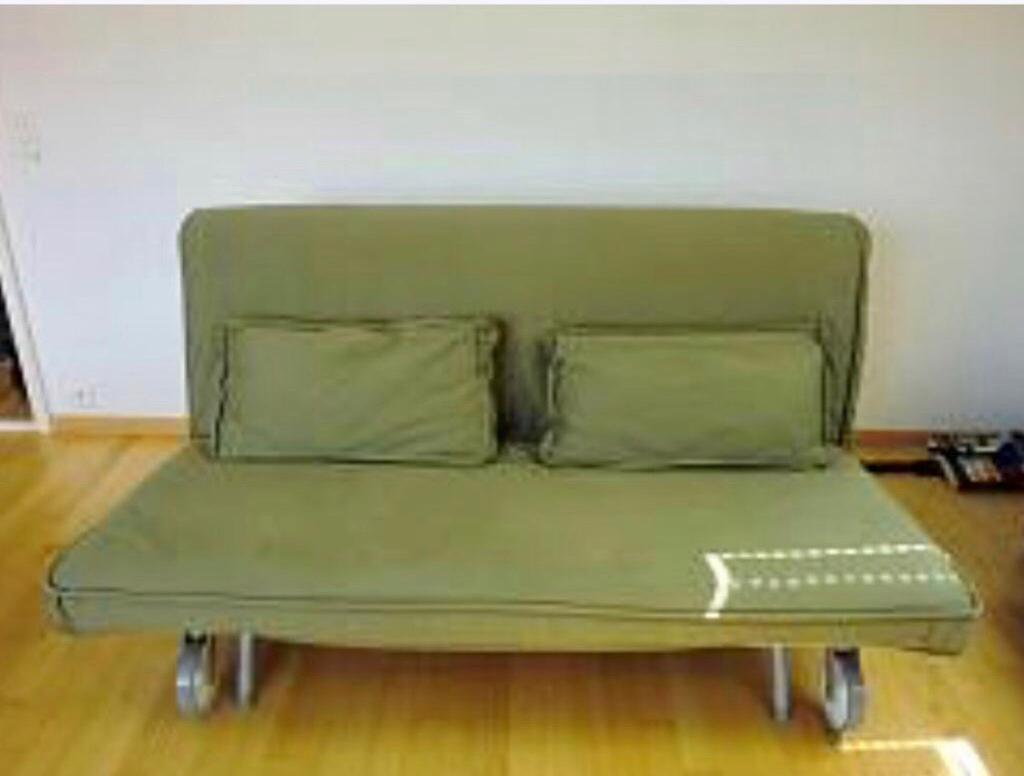 Two Seater Ikea Ps Sofa Bed Havet Green V Good Clean Mattress