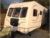 Bailey Olympus 546 -2010 must be seen family caravan, triple bunk beds, motor mover and awning.