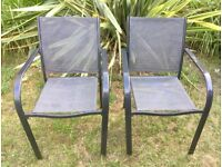 Pair of garden iron chairs - MINT condition -