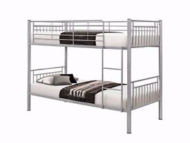 SINGLE METAL BUNK BED SPLIT IN TO 2 SINGLES NON SPLITABLE BOTH ARE AVAILABLE