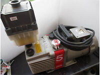 EDWARDS E1M5 Rotary Vacuum Pump with Oil Mist Catcher