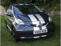 TOYOTA AYGO , STRIPES JUST PUT ON CAR VERY RECENTLY , NOT CORSA , FIESTA , POLO , CLIO , FIAT