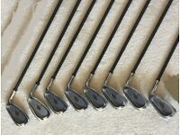 Macgregor HTM cavity stainless set of irons.