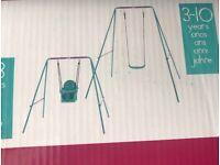 Kids 2-in-1 garden swing