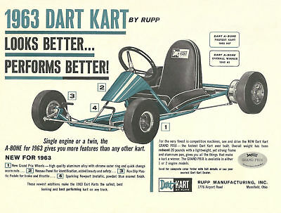 Usado, Vintage 1963 Rupp Dart Kart A-Bone Go-Kart Brochure segunda mano  Embacar hacia Spain
