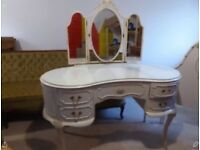 Dressing table and head board