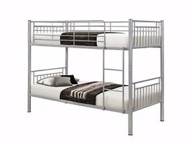 FREE AND FAST DELIVERY-- Brand New 3FT Single Metal Bunk Bed Frame ==CONVERTIBLE AS TWO SINGLE BED==