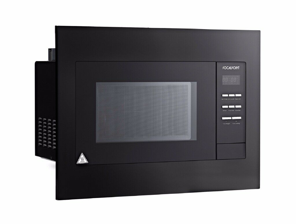 Focal Point Integrated Black Combi Microwave 23 Litre