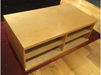 TV stand unit - Wood with space for DVD players, consoles etc.
