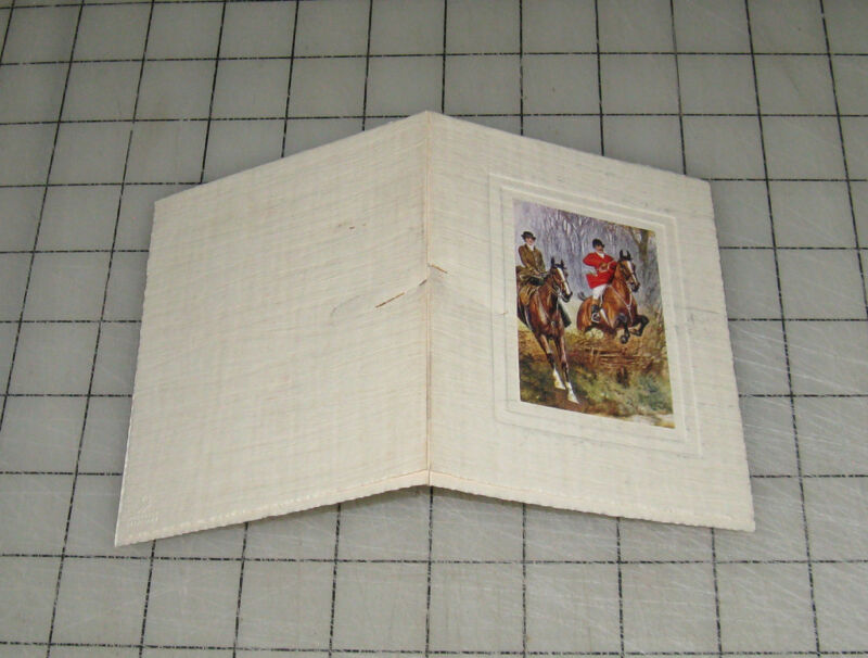 "VINTAGE EQUESTRIAN ""Fox Hunting"" Horses Christmas GREETING CARD"