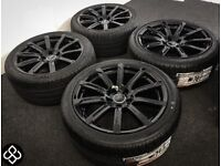 "GENUINE AUDI A4 A5 18"" ALLOY WHEELS & TYRES (Fits VW) - 245/40/18 - 5 x 112"