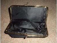 Black extendable folding make-up/cosmetic/toiletry/travel/wash bag