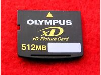 Olympus Camedia 512 MB XD Memory Picture Card complete with leaflet.