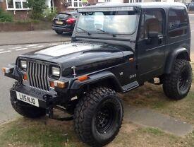Wrangler jeep V8 QUAD-CAM - 4.0 AUTO yj Modified - square light - Lexus powered engine and gearbox
