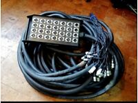 Stage Box Snake 24 channels XLR 30M Length