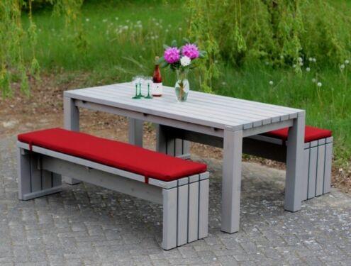 Gartenstühle holz grau  Gartenmöbel Holz Set 3, Grau Geölt, inkl. Polstern in Niedersachsen ...