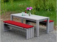 Gartenmöbel set holz grau  Pflanzkasten Holz Ecke mit Sichtschutz, Transparent Geölt Grau in ...