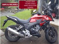 Low mileage Honda CB500X 2013 with upgrades for sale