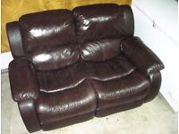 Double leather recliner sofa for sale