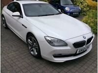 Bmw640dSE . Stunning pearlescent white with exclusive red leather. Porsche, Mercedes jaguar Lexus