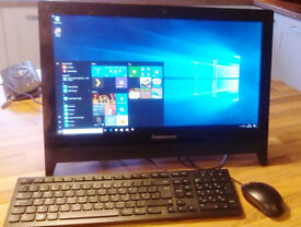 "PC - Lenova C20 All-In-One desktop computer 19.5"" screen"