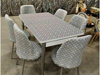 💥💯MONEY SAVING SALE⭐🌈 EXTENDABLE DINING TABLE AND 6 CHAIRS WITH DELIVERY OPTIONS