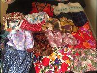 Job lot vintage style women's clothes. 10/12