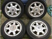 """Mazda Eunos / MX5 14"""" original 'Daisy' alloys - from an original Mk1 Jap car"""