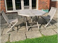 Garden Table and Chairs Set Wooden Garden Furniture Set