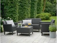 Brand New Garden Furniture Set Palermo 2 Seater Sofa 2 Chair Table