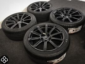 "GENUINE AUDI A4 A5 18"" ALLOY WHEELS & TYRES (Fits VW) - 245/40/18 - 5 x 112"
