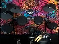 For Sale Alesis DM6 Electronic Drum Kit Bundle With Stool, Sticks + Headphones