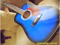 COUNTRYMAN from HOHNER. vgc. Blue on Black acoustic 6 string R H player