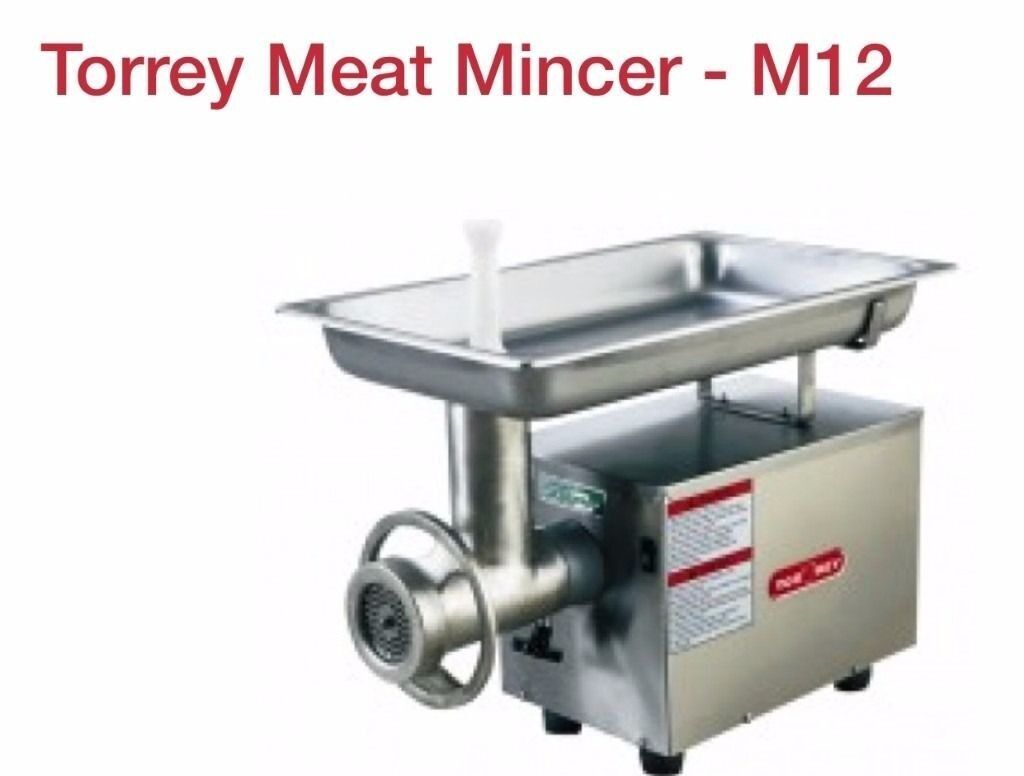 MEAT MINCER BUTCHER MEAT GRINDERM12in Manor Park, LondonGumtree - Torrey M12 meat mincer has a large stainless steel meat pan. It also benefits from a cast iron head, ring & the mincing head assembly is dip tin plated to increase resistance to corrosion. The mincers feed pan, head, ring and worm are all removable...