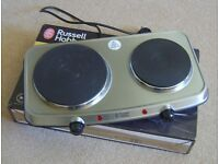 Russell Hobbs Mini Hob. Kitchen or camping. Very good condition...hardly used and still boxed.
